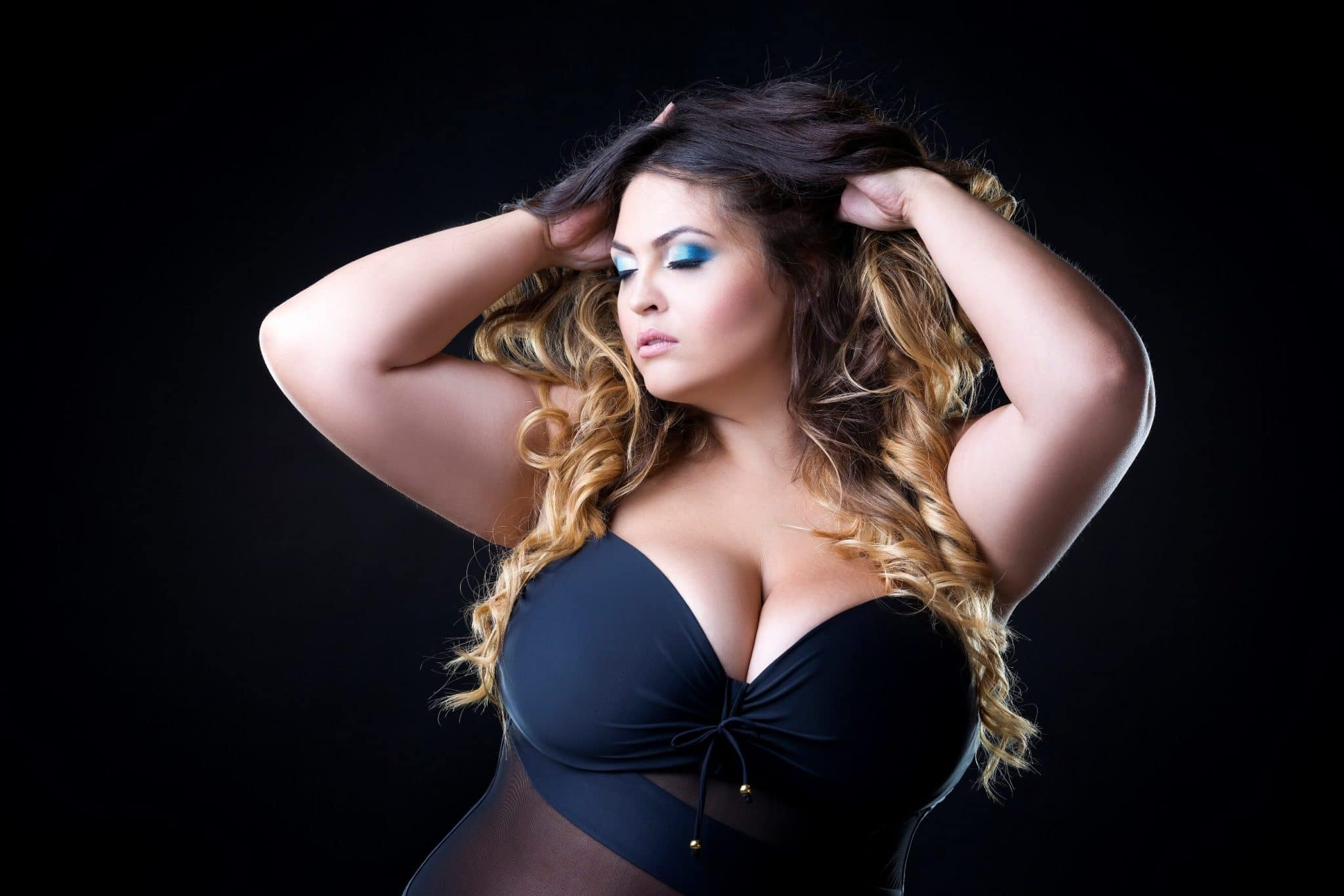 beautiful confident plus size model