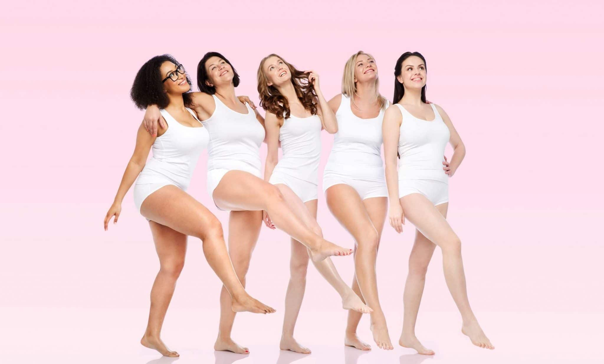 group of different sized women
