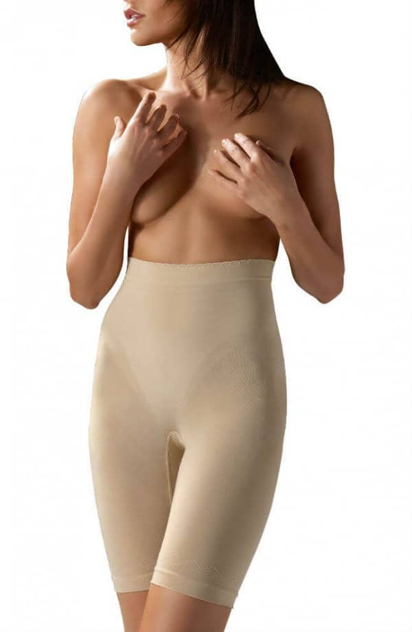 nude high support control shaping girdle from front of model