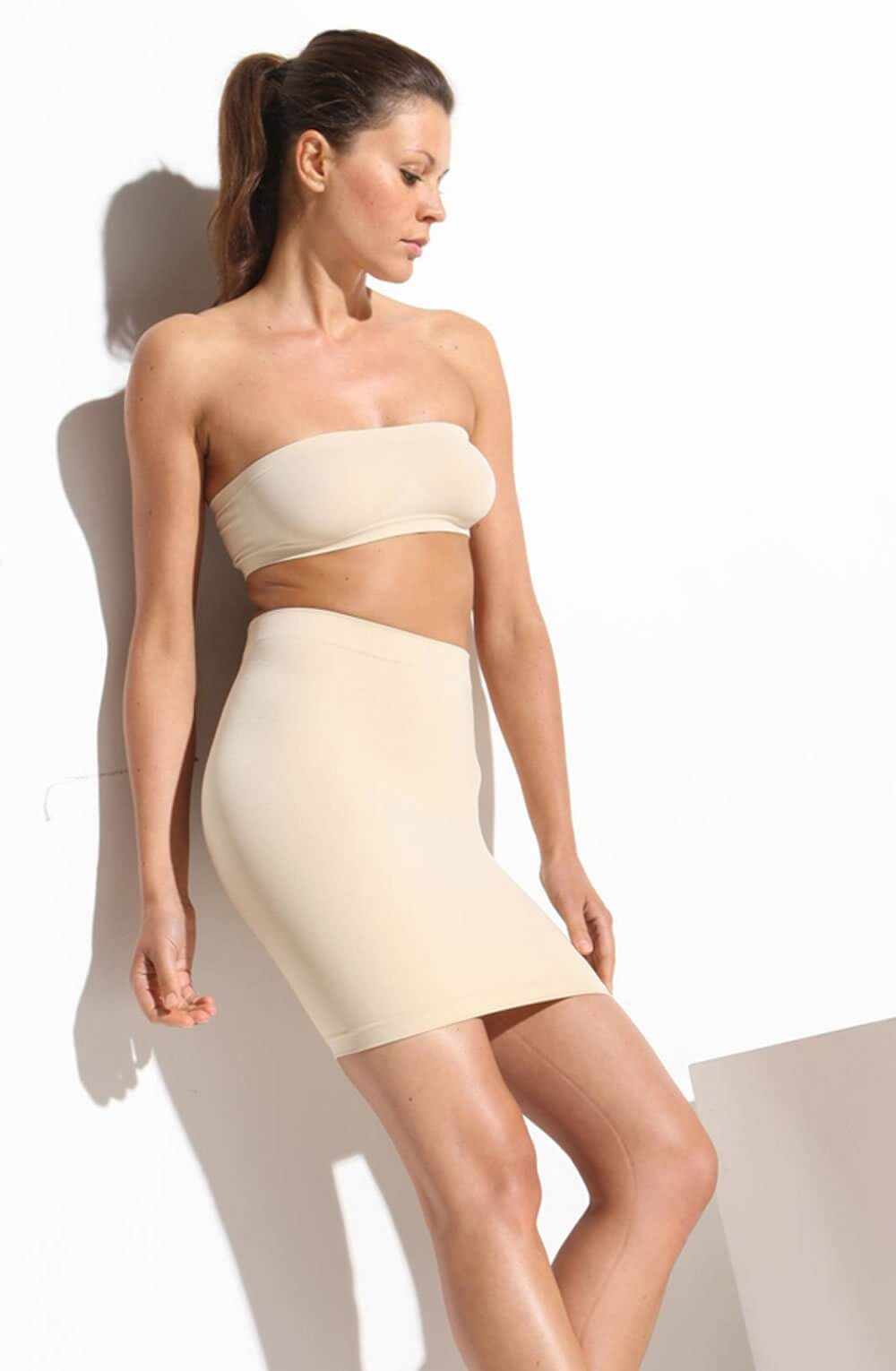 7ba9258b010 Nude Smoothing Waist & Tummy Control Shaping Skirt, Size 18-20
