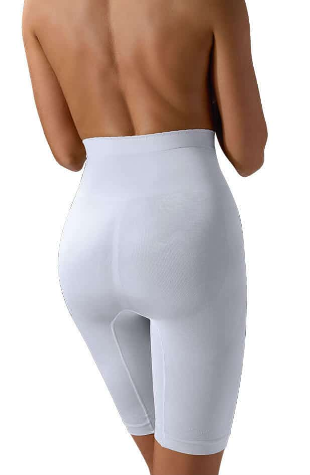 white high support control shaping girdle from back