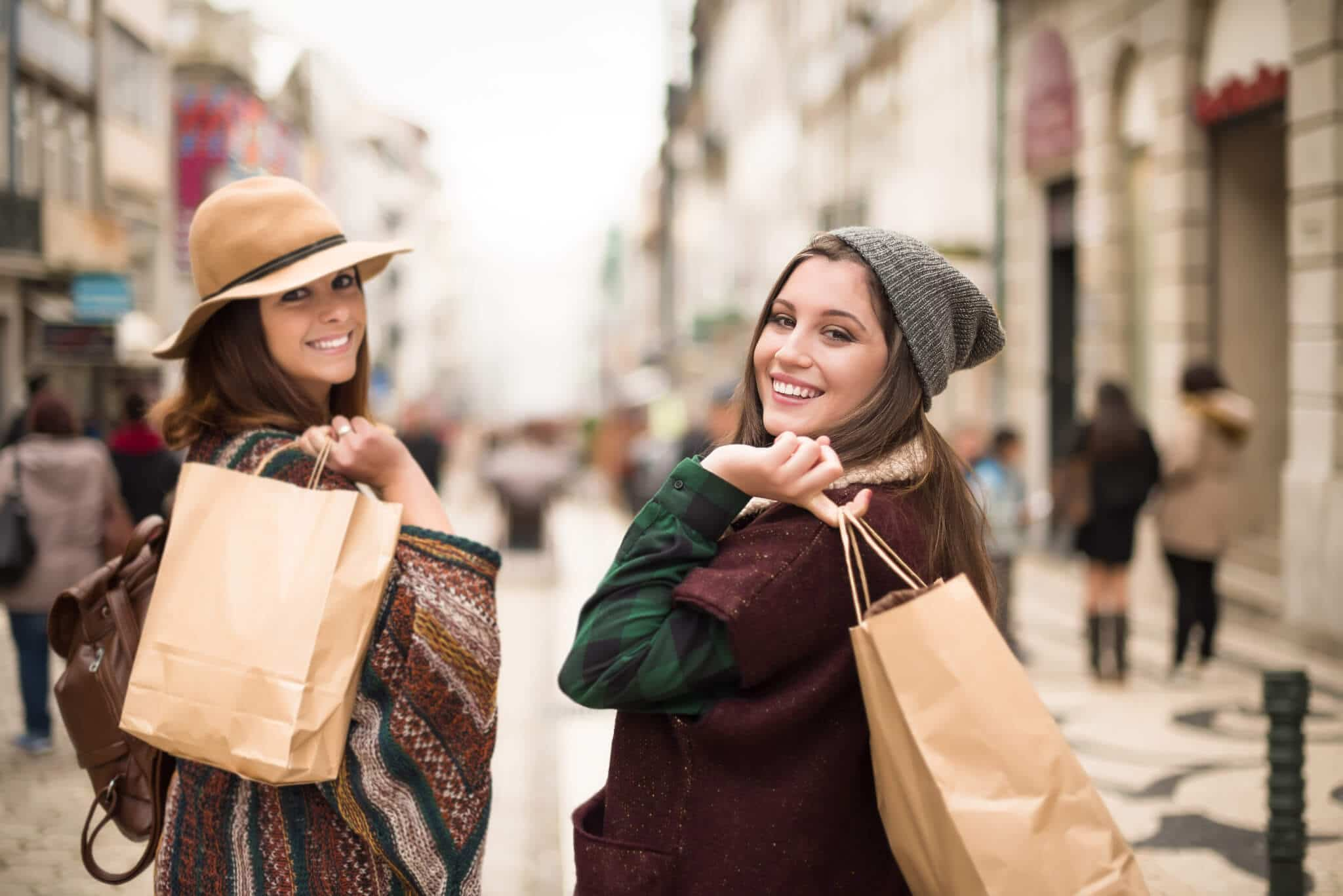 Women shopping for autumn fashion