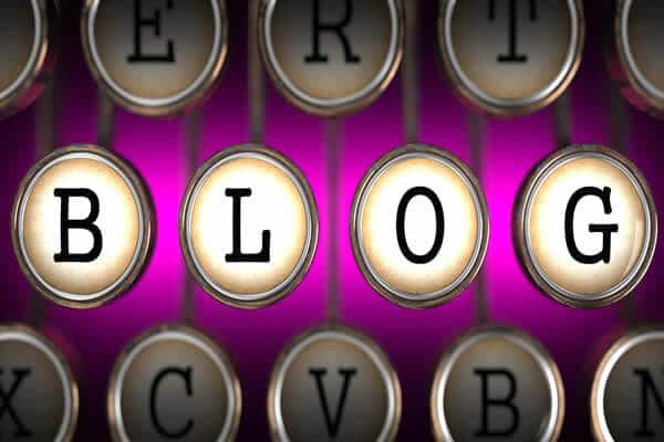 Blog on typewriter keys