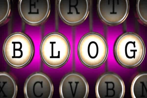 Blog on typewriter keys