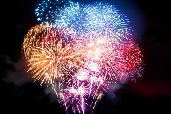 Fireworks display on bonfire night