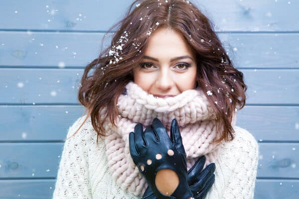 Woman dressed up for cold winter weather