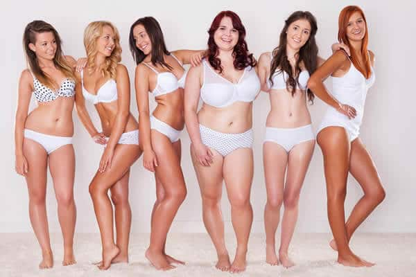 Confident women in plus size shapewear