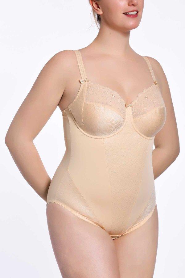 nude plus size bodysuit