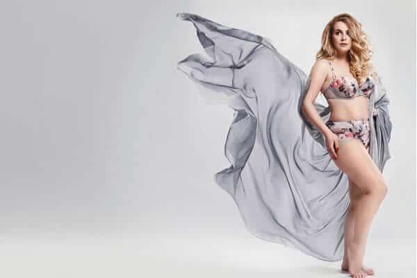 Plus size lingerie model