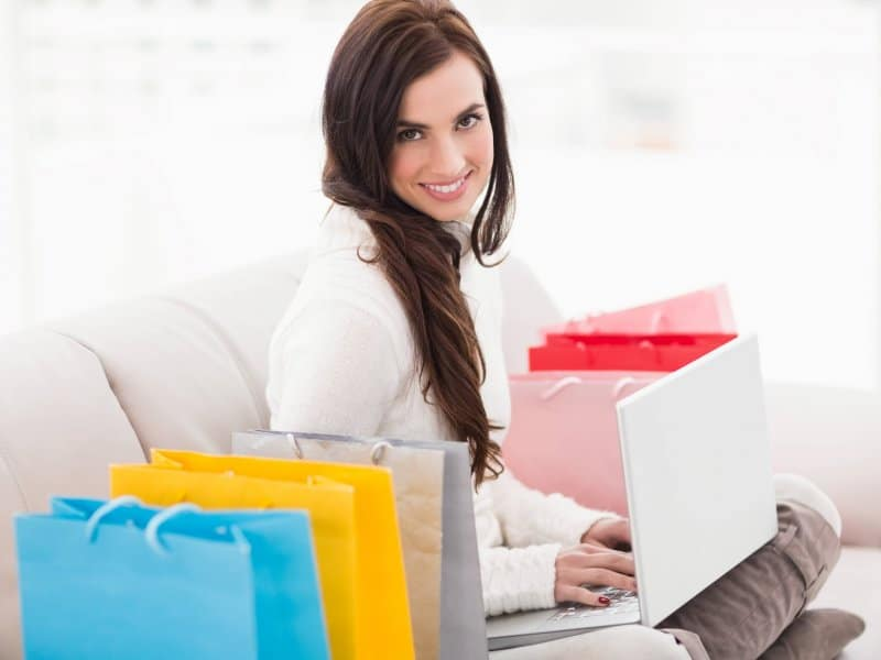 woman shopping online