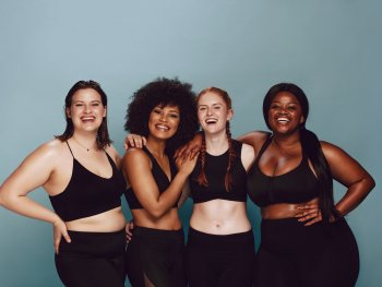 Women embracing their bodies