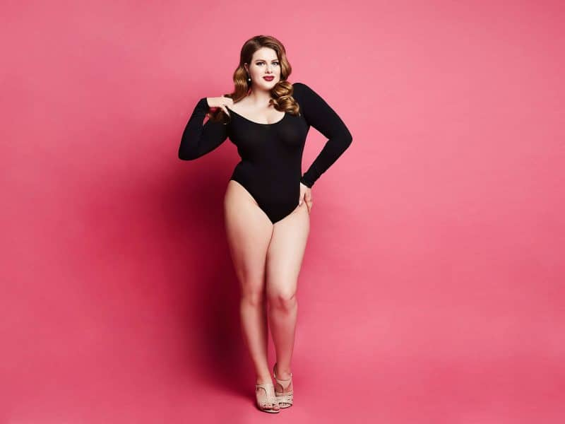 plus size woman in body