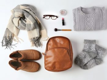 Set of female stylish clothes for autumn and winter